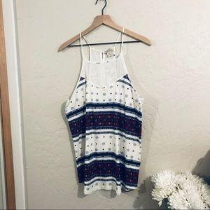 Lucky brand tank top blouse size XL